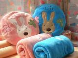 靠垫抱枕空调被毯子空调被卡通空调被砂糖兔靠垫抱枕毯子
