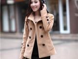2013秋冬新款时尚修身短款呢子大衣风衣 服装服饰代理加盟 代发