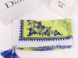 2014秋冬新款围巾女 韩版青花瓷超大尺寸丝巾 原单流苏披肩