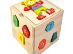 儿童益智力积木玩具 小熊智力盒 拼装玩具 云和木制玩具积木批发