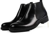 男式高帮皮鞋头层牛皮打造男真皮皮靴圆头商务男鞋大气工作鞋37码