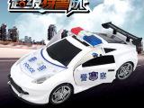 厂家直销万向开门车3D音乐警车 电动玩具