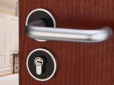 批量供应黑白太空铝门锁现代室内简约房门锁具机械执手锁分体锁具