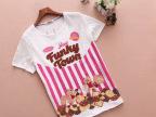 夏季新款外贸女装 韩版纯棉短袖T恤 创意印花图案打底衫 厂家直销