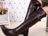 专柜正品代购2013冬新款真牛皮保暖长靴过膝靴女靴子骑士靴3C5