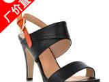 厂家直销 2014新款时尚真皮凉鞋高跟鞋女鞋批发 鞋子代理加盟免