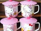 高品质hello kitty陶瓷带盖杯子 卡通KT猫水杯 马克杯