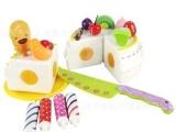 儿童玩具批发 生日蛋糕 可切蛋糕 仿真益