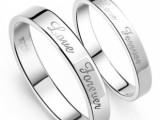 情侣戒指 对戒 厂家直销 一件代发 92.5纯银戒指子 时尚银饰