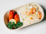 上海伊德威爾一次性竹漿可降解餐具800ml2格午餐盒