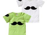 童装2014新款儿童夏装 胡子男童女童短袖韩版T恤宝宝上衣打底衫