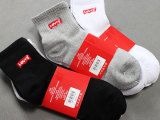 出口刺绣袜子 外贸袜子 高弹舒适 男式袜子 秋季中筒袜子 男袜