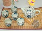 批发整套特价日韩式釉下彩陶瓷器功夫茶具 赠品礼品盒套装