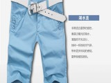 厂家直销 2014较新款男式五分中裤 修身男装 石狮服装服装批发