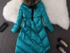 2014新款冬装羽绒服中长款貉子毛领女士羽绒服外套批发111808