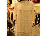 新款韩国东大门代购蕾丝短袖甜美百搭连衣裙