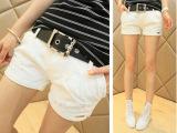 2014夏装新款 女装韩版牛仔裤 潮款显瘦白色牛仔短裤