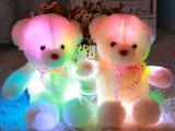 七彩发光泰迪熊 熊公仔带音乐毛绒玩具 送女生生日礼物 厂家直销