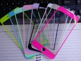 批发iPhone6 5.5寸彩色钢化膜全屏贴膜前后丝印彩色膜纯色