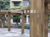 木纹漆施工,厂家木纹漆销售,廊架护栏木纹漆