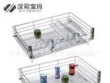 新款HSBM-A3抽屉式厨房拉篮/不锈钢加粗拉篮/橱柜碗碟拉篮