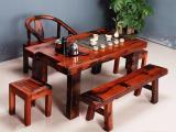 一品船木家具老船木茶桌实木茶台茶艺桌功夫茶桌椅组合