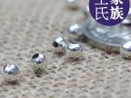DIY饰品 藏银配件材料批发/藏银小银珠子4-8mm隔珠配件半成品批发
