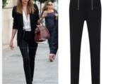 [热]小脚裤 英伦风黑白时尚休闲女装长裤 百搭铅笔小脚裤A629