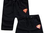 超人运动套装 男女纯棉夏装短袖潮牌t恤五分热卫裤子 沙滩情侣裤