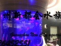 广州清洗鱼缸定做造景定做大型亚克力鱼缸工程定做海鲜池水族店缸
