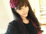 韩版发饰毛呢牡丹大花朵花瓣帽子发箍头花头饰 BK028