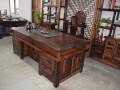 老船木实木功夫中式茶桌榆木仿古泡茶台组合古典茶台茶台桌椅