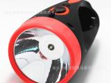 厂家热销 充电LED手电筒 塑料手电筒 强光充电探照灯手提灯批发