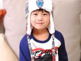 伊莱茂盛 YL-1245A标雷锋护耳帽 儿童套头保暖帽宝宝加绒帽