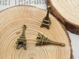 火拼包邮DIY镀古青铜合金饰品配件批发铁塔挂件全网最低DIY配件
