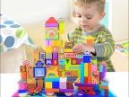 米米智玩 木质木制160粒外星奇域积木 儿童益智早教玩具厂家直销