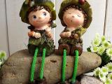 树脂娃娃、吊脚娃娃 树脂人物摆件、生日礼物、小礼品、小饰品、