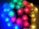 厂家供应 圣诞节日装饰串灯 LED玫瑰电池灯串 圣诞彩灯串