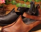 广州女鞋批发现货批发外贸真皮个性复古手工缝制休闲牛皮民族风女