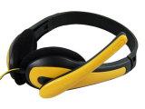 厂家直销 NO.056狼博旺头戴式耳机[单插头带麦] 耳机批发