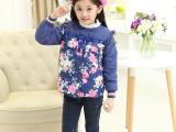 新款女童花朵羽绒服儿童韩版内胆羽绒服保暖童装棉衣外套一件代发