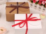 烘焙包装 牛皮纸西点盒 蝴蝶扣纸盒 蛋糕饼干盒 包装盒 礼品盒