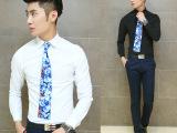 新品拿样试销2014秋装新款男士衬衣男式韩版上衣纯色长袖男装衬衫