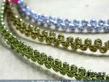 灯饰工艺发箍用金葱丝蜈蚣带花边装饰带