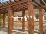 木纹漆/水性漆 厂家施工销售,景区护栏木纹漆施工