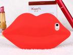 厂家直销新款多色精美嘴唇型iphone5S硅胶手机保护壳套