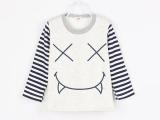 秋季新款男女童T恤 厂家直销韩版全棉加绒中小童t恤 女童打底衫