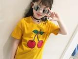夏季男女童时尚卡通圆领印花短袖T恤
