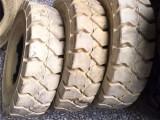 实心叉车胎18 7-8 轮胎 白色环保无痕