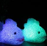 X水晶金鱼七彩灯 小夜灯 七彩小夜灯 魔